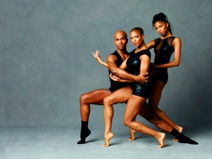 Alvin Ailey American Dance Theater's Jacqueline Green, Akua Parker and Glenn Allen Sims. Photo by Andrew