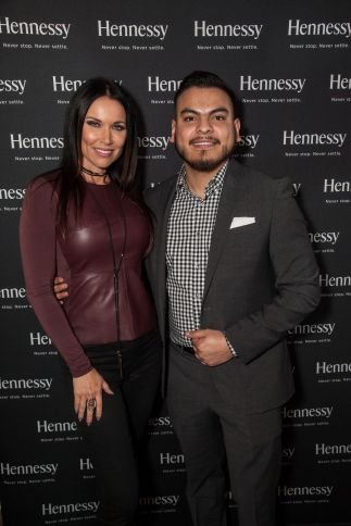 LeeAnne Locken (Housewives of Dallas) with Hennessy's Roman Malvaiz. Photo Credit: Hennessy